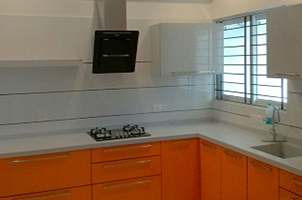 L-Shaped Kitchen Furniture in Mangalore